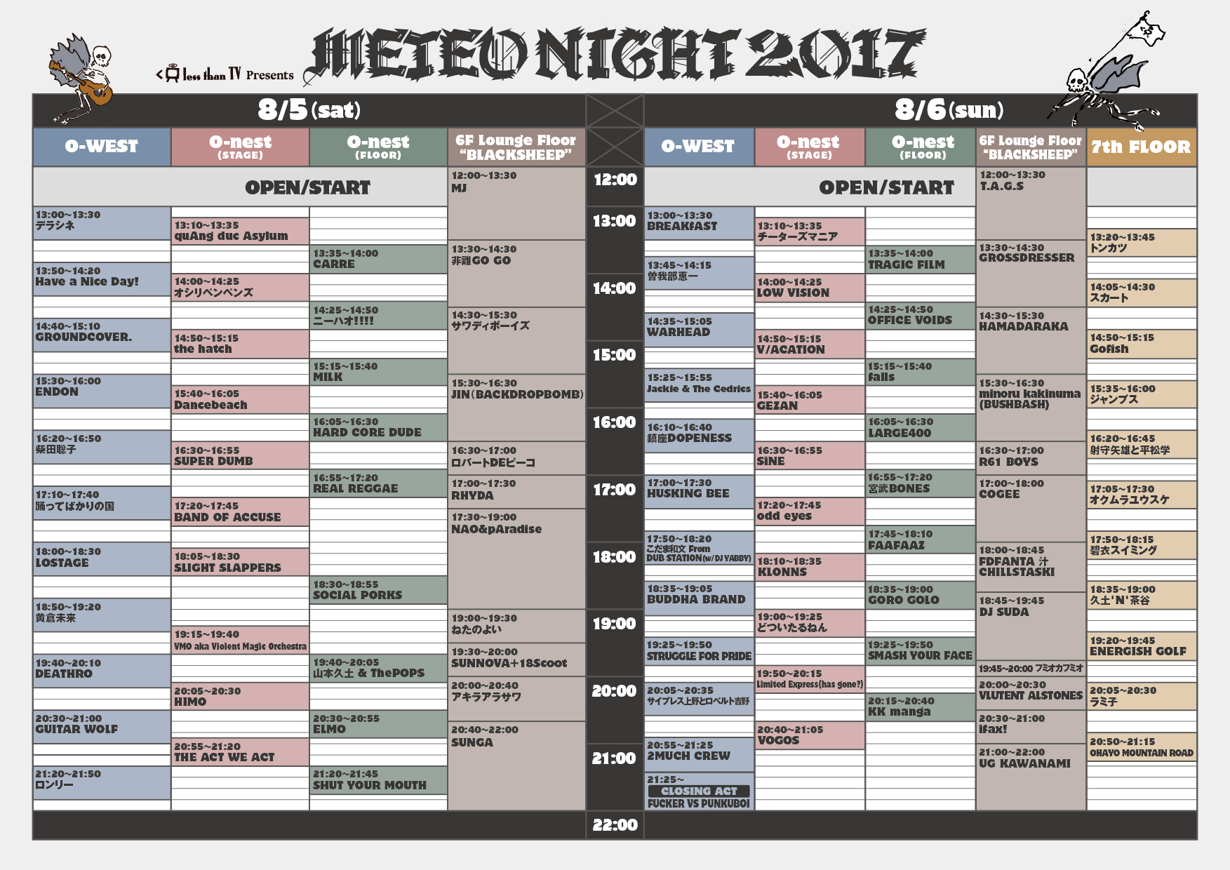 METEONIGHT2017_TIME TABLE